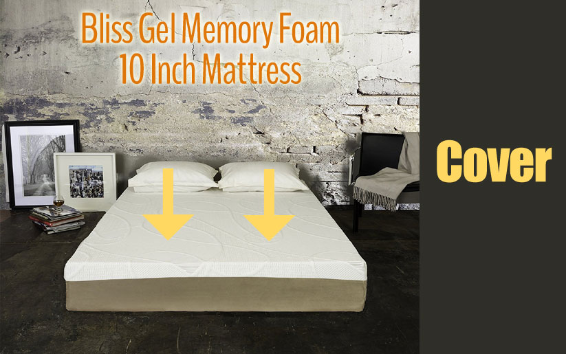 Bliss gel memory foam 10 inch mattress cover