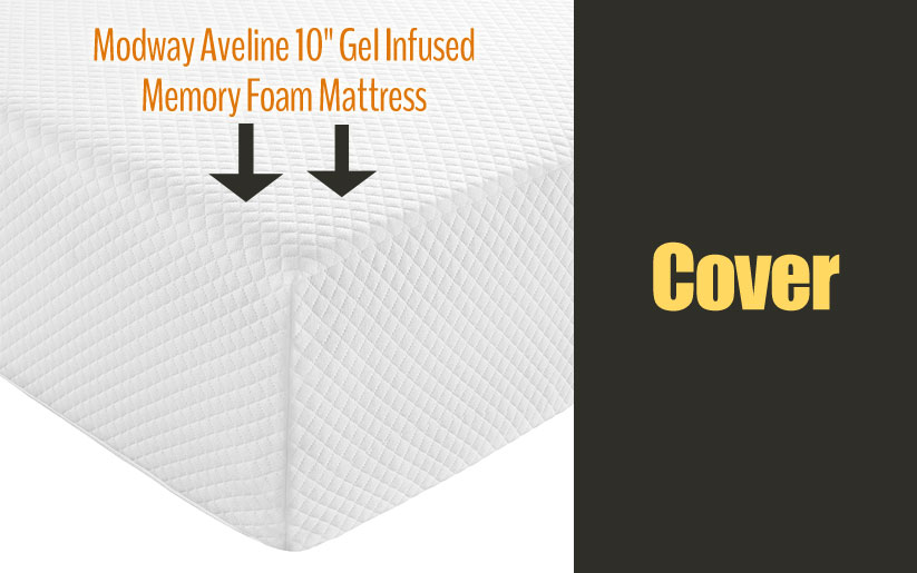 Modway Aveline gel infused memory foam mattress Cover