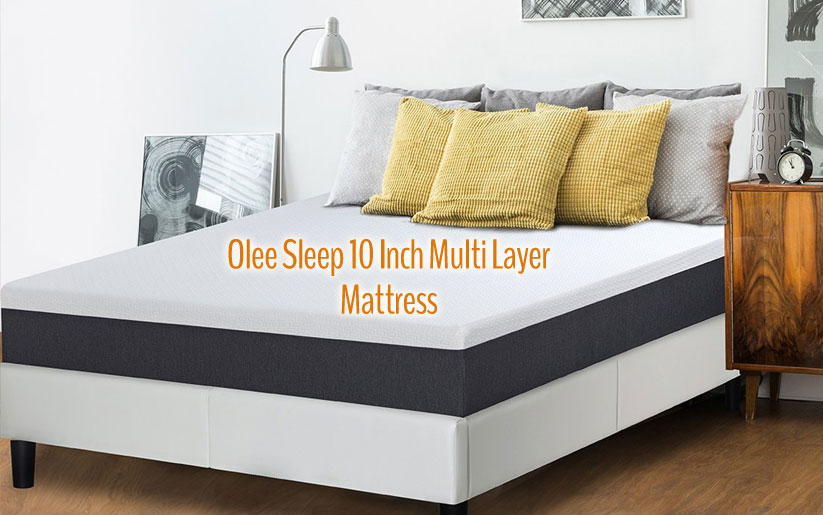 "Olee Sleep Mattress Reviews: 10"" EOS Multi Layer Gel Infused Memory Foam"