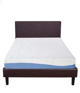 Olee Sleep 10 Inch Gel Infused Layer Top Memory Foam Blue Mattress