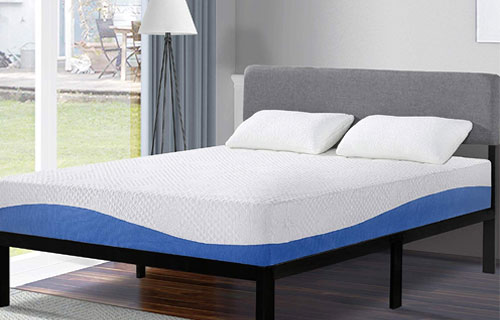 Olee Sleep 10 Inch Gel Infused Layer Top Memory Foam Blue mattress Overview