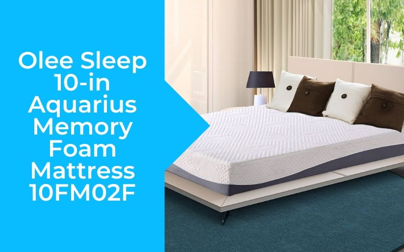 Olee Sleep 10 in Aquarius Memory Foam Mattress 10FM02F Review