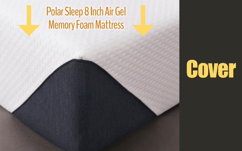Polar Sleep 8 inch air gel memory foam mattress cover