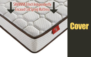 SAVANNA 8 Inch Independently Encased Coil Spring Mattress Cover
