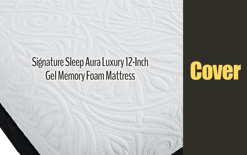 Signature Sleep Aura Luxury 12-Inch Gel Memory Foam Mattress Cover