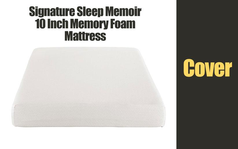 Signature Sleep Memoir 10 Inch Memory Foam mattress cover