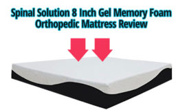Spinal Solution 8 Inch Gel Memory Foam Orthopedic Mattress Review