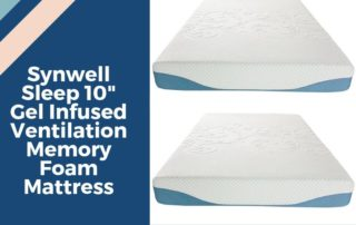 Synwell Sleep Reviews: 10″ Gel Infused Memory Foam Mattress