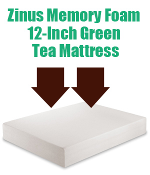 Zinus Memory Foam 12 Inch Green Tea Mattress