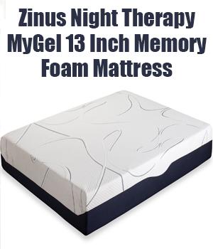 Zinus Night Therapy MyGel 13 Inch Memory Foam mattress