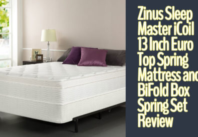 Zinus Sleep Master iCoil 13 Inch Euro Top Spring Mattress and BiFold Box Spring Set
