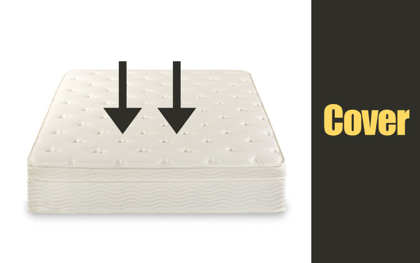 Zinus Sleep Master iCoil 13 Inch Euro Top Spring Mattress and BiFold Box Spring Set Cover