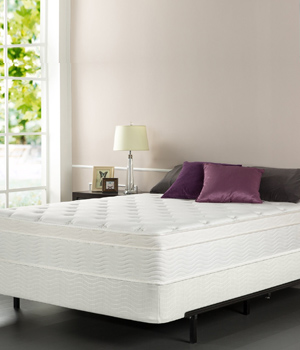 Zinus Sleep Master iCoil 13 Inch Euro Top Spring Mattress