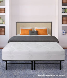 Best Price Mattress 12 Grand Memory Foam Mattress With Premium Steel Bed Frame Foundation Set