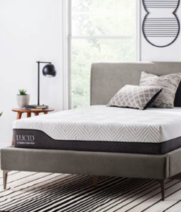 LUCID 10 Inch Hybrid Bamboo Charcoal and Aloe Vera Infused Memory Foam Mattress