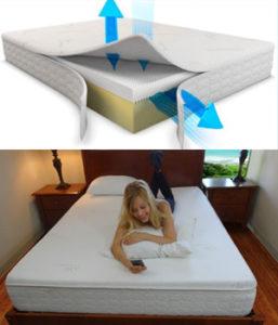 Snuggle-Pedic Airflow Ultra-Luxury Bamboo Cover Orthopedic Memory Foam Mattress