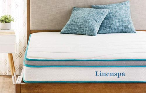 linenspa 8 inch memory foam and innerspring hybrid mattress review