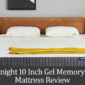 Sweetnight 10 Inch Gel Memory Foam Mattress Review