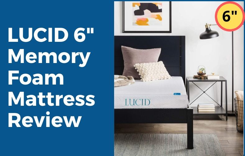 LUCID 6 Inch Memory Foam Mattress Review – Gel Infused Firm Dual