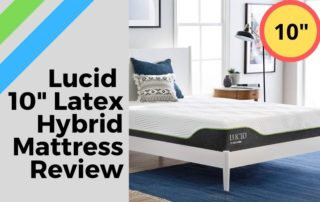Lucid 10 Inch Latex Hybrid Mattress Review