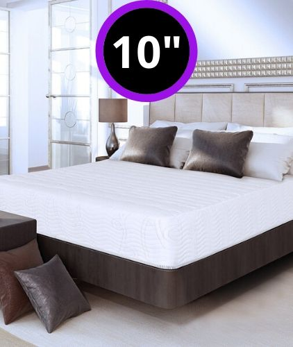 Olee Sleep 10 inch Omega Hybrid Gel Infused Memory Foam and Pocket Spring Mattress