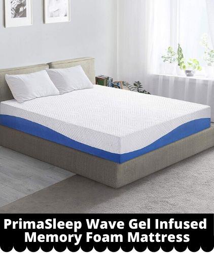 PrimaSleep 10'' Wave Gel Infused Memory Foam Mattress