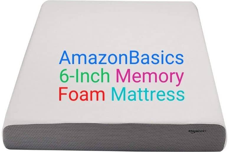 AmazonBasics 6-Inch Memory Foam Mattress
