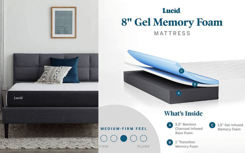 Lucid 8 Inch Gel Mattress