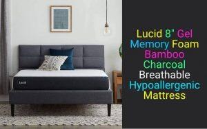 Lucid 8 Inch Gel Memory Foam Mattress