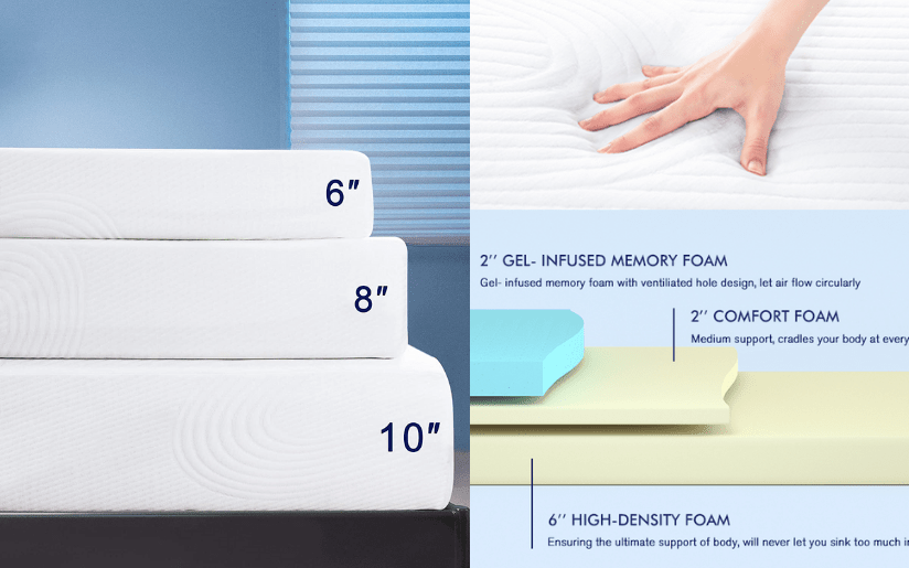 Subrtex 10 Inch Mattress Gel Mattress