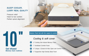 Sweetnight 10 Inch Gel Mattress