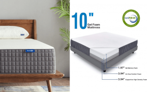Sweetnight Breeze 10 Inch Gel Mattress