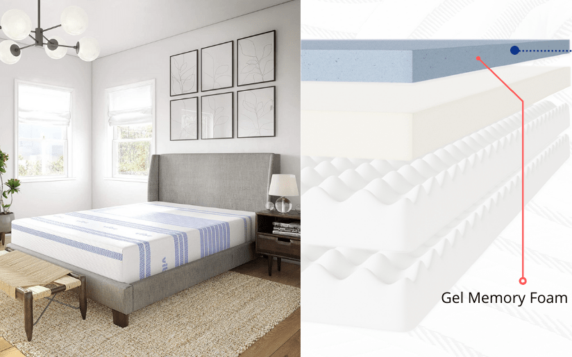Vibe 12 Inch Gel Memory Foam Mattress